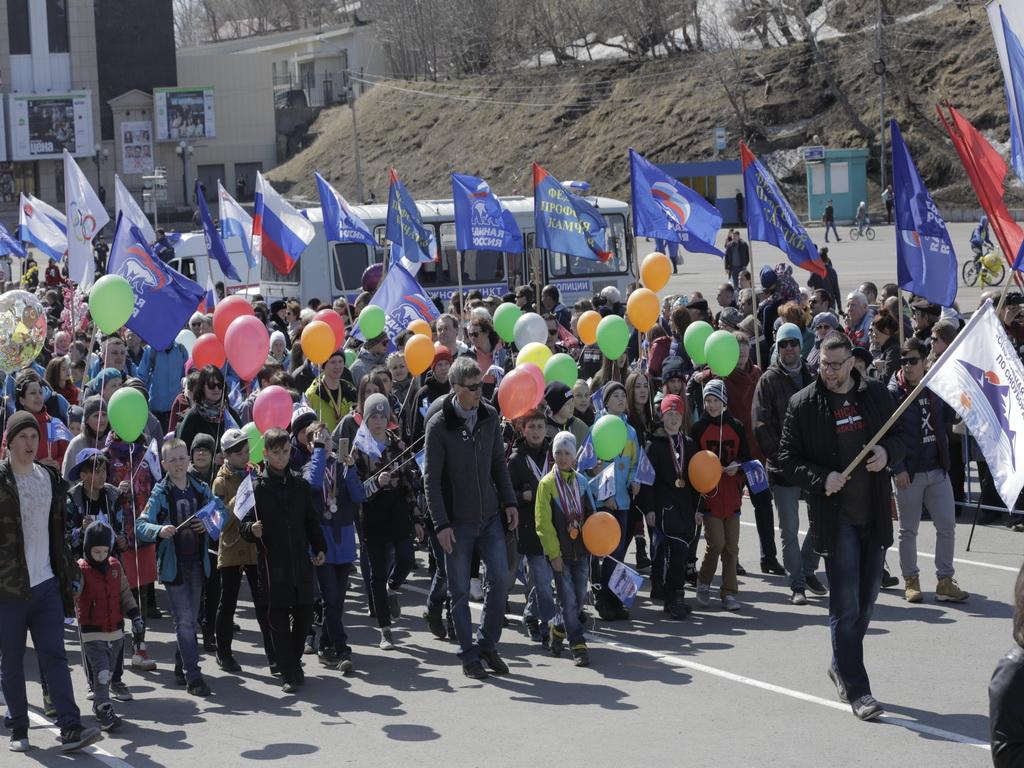 фотоотчет демонстрация петропавловск камчатский